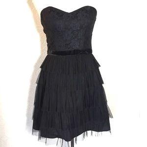 deLia*s Black lace dress women medium